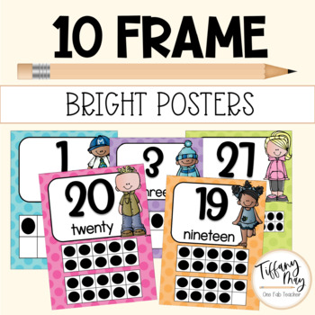 Ten Frame Posters Melonheadz Style (Brights)