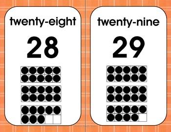 Ten Frame  Posters - Orange