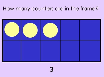 Ten Frame Practice 1 to 10 for school or home computer whole or small group