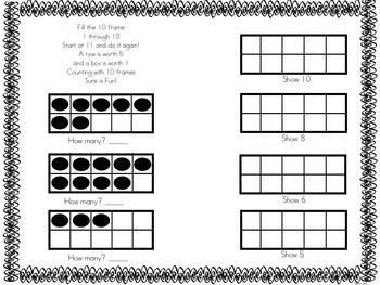 Ten Frame Practice