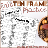 Fall Math Ten Frame Practice