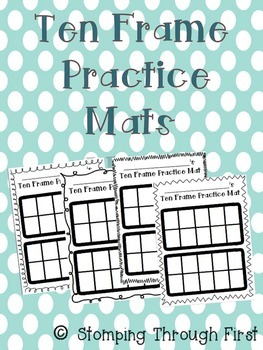 Ten Frame Practice Mats