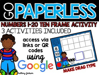 Ten Frame Practice for Numbers 1-20 using Google Slides