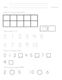 Ten Frame Practice for Numbers 10-20, 1-9 Review
