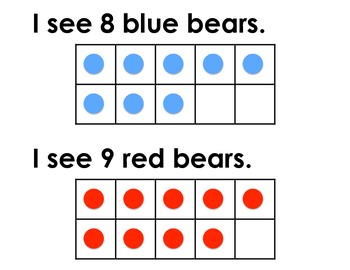 Ten Frame Practice with Bears