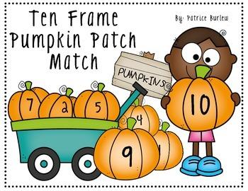 Ten Frame Pumpkin Patch Match- Memory Game