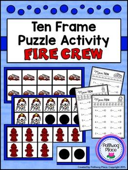 Ten Frame Puzzle Activity - Fire Crew