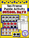 Ten Frame Puzzle Activity - School Days