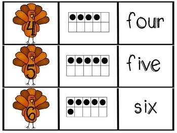 Ten Frame Puzzle {November}