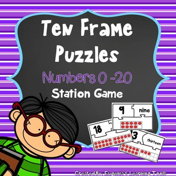 Ten Frame Puzzles 0-20