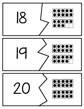 Ten Frame Puzzles (0-20) FREEBIE
