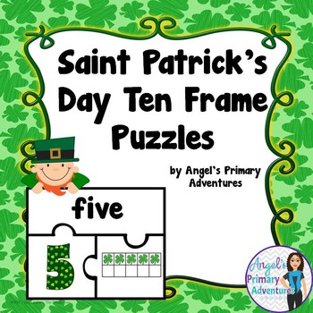 Ten Frame Puzzles:  Saint Patrick's Day Theme