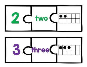 Ten Frame Puzzles and Practice Worksheets