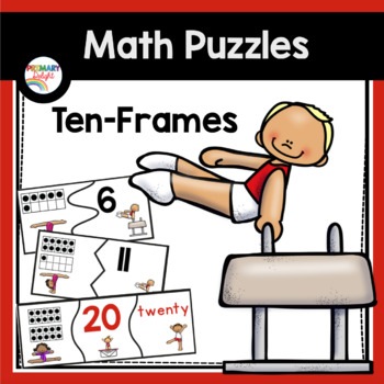 Ten-Frame Puzzles (with Numerals and Number Words) by Primary Delight