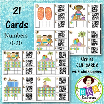 Ten Frame QR Code ● Ten Frame Activities ● Ten Frame Count and Clip Cards