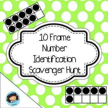 Ten Frame QR Code Scaveneger Hunt