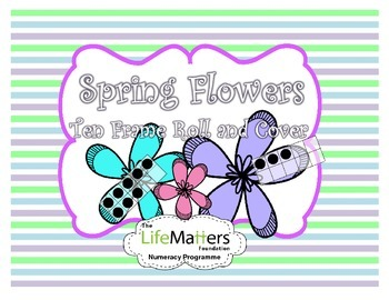 Ten Frame Roll and Cover Spring Flowers FREEBIE
