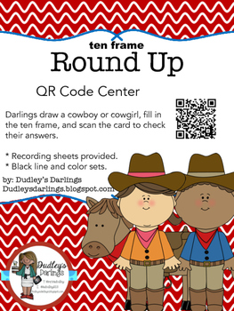 Round Up Ten Frames to 10 QR Codes