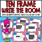 Ten Frame Scoot and Color by Ten Frame Page
