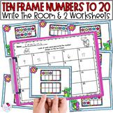 Ten Frames | Math Game | Fun Summer School Activities | Worksheet