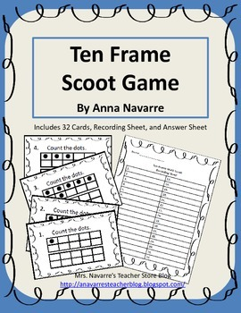Ten Frame Scoot Game