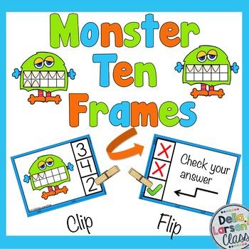 Ten Frame Self Checking Task Cards