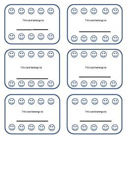 Ten Frame Smiley Reinforcement Cards