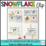 January Ten Frame Clip Cards Snowman (Differentiated)