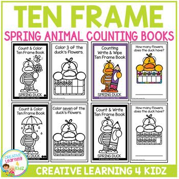 Ten Frame Spring Animal Counting Book Bundle