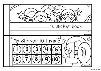 Ten Frame Sticker Reward Book