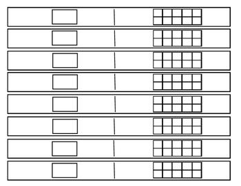 Ten Frame Strips