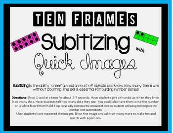 Ten Frame Subitizing With Quick Images