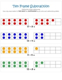Ten Frame Subtraction - Common Core Connected