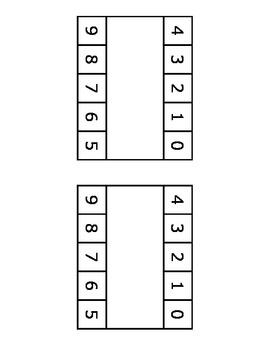 Ten Frame Subtraction Manipulative