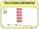 Ten Frame Subtraction-Teacher Slides (First Grade, 1.NBT.6)