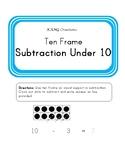 Ten Frame Subtraction Under 10