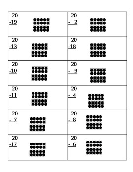 Ten Frame Subtraction- up to 20