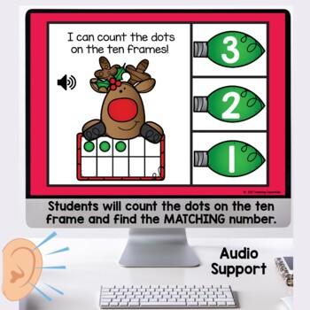 Ten Frame Task Cards Christmas themed