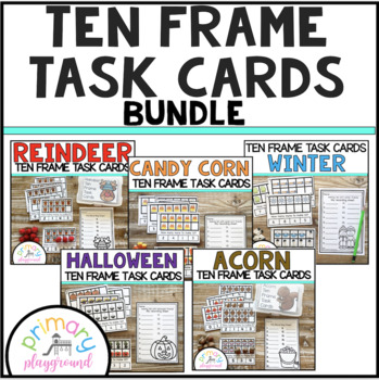 Ten Frame Task Cards Making Ten with  Friends Growing Bundle