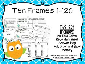 Ten Frame Numbers 1-120 Math Center