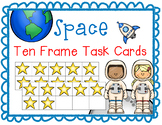 Space Addition Ten Frame Task Cards