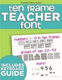 Ten Frame Teacher Font