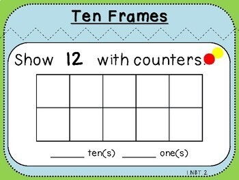 Ten Frame-Teacher Slides (First Grade, 1.NBT.2)