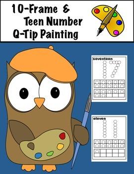 Ten Frame & Teen Number Q-Tip Painting