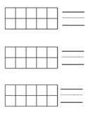 Ten Frame Template Worksheets