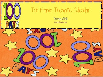 Ten Frame Thematic Calendar