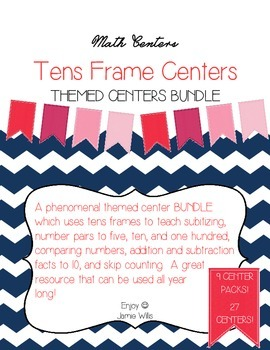 Ten Frame Themed Center BUNDLE Month by Month