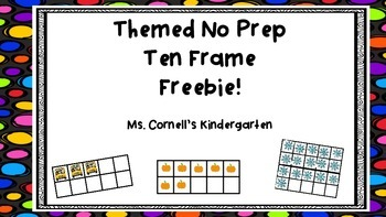 Ten Frame No Prep Themed Freebie