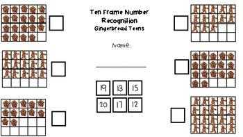 Ten Frame Themed No Prep Sheets