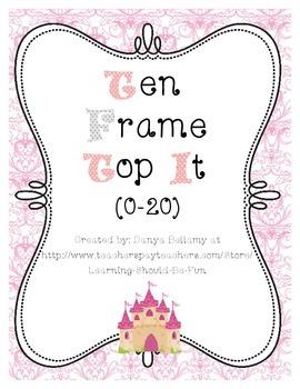 Ten Frame Top It 0-20 (Princess Themed)